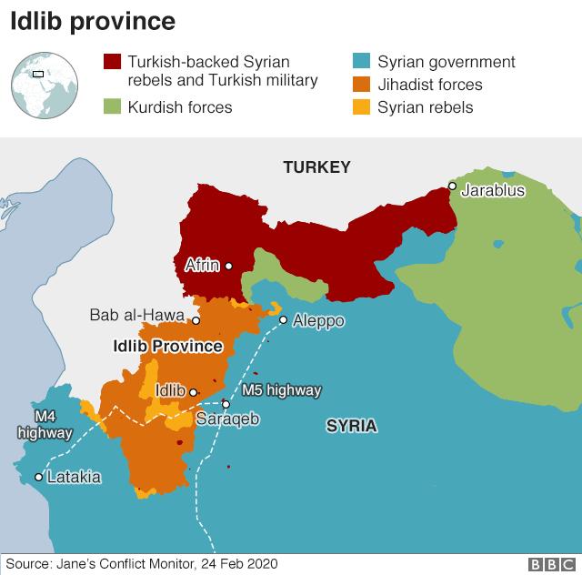 敘利亞戰爭:空襲後,土耳其加劇了伊德利布的猛攻